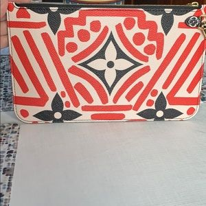 LV Crafty Red and Black wristlet